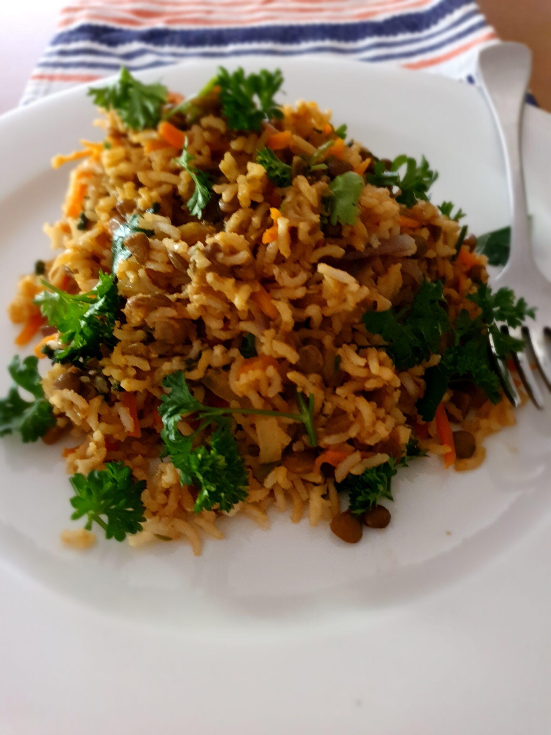 Rice and Lentils (Caramelised Onions) Mujadara