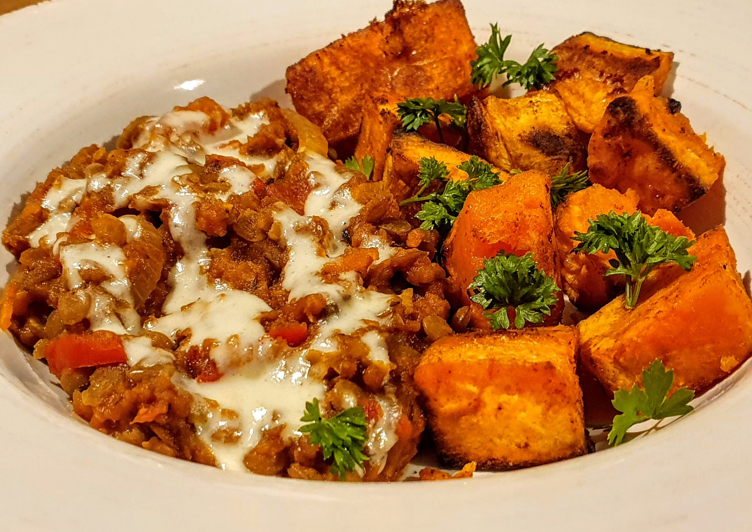 Smoky Lentils and Sweet Potato