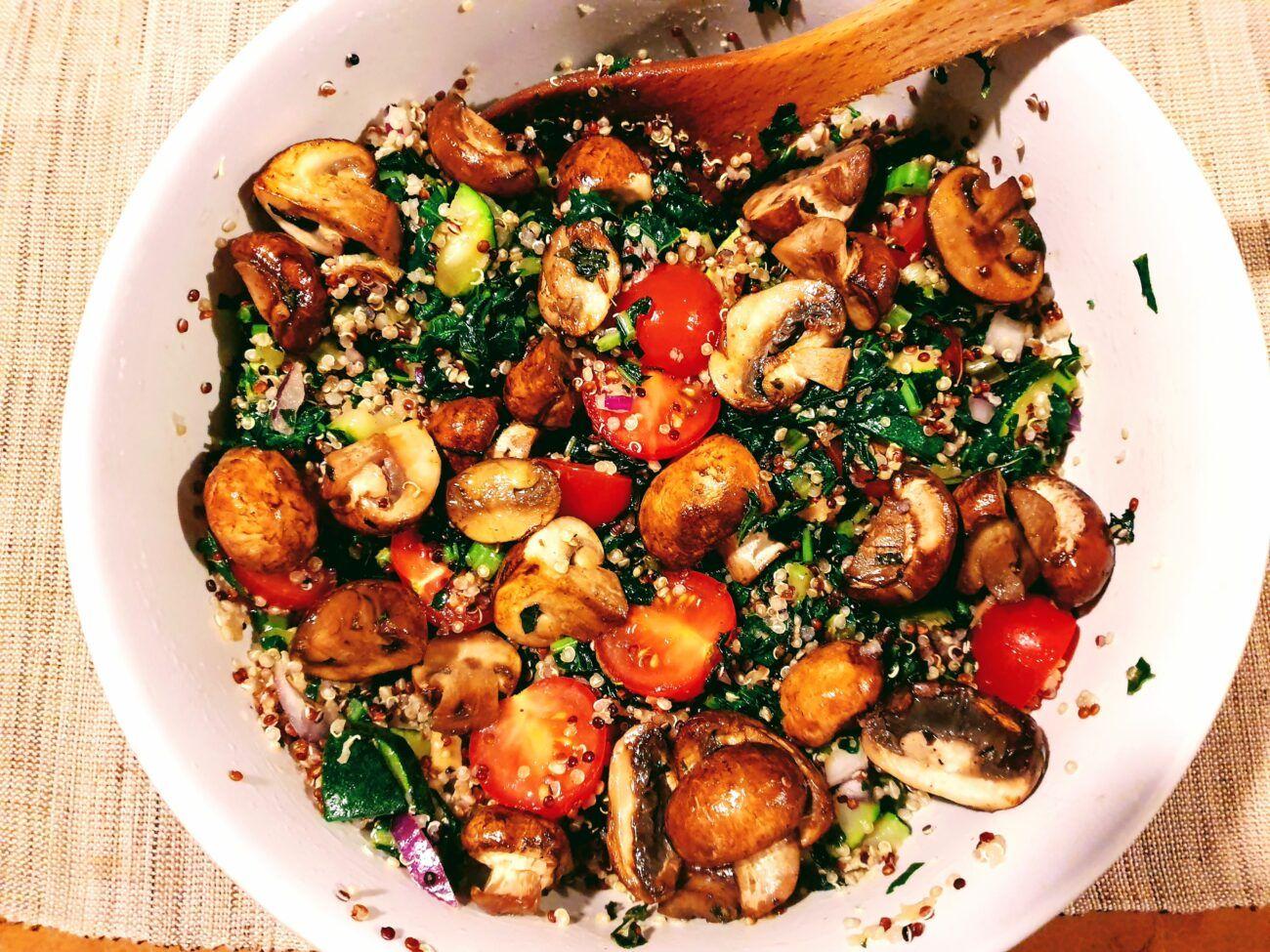 Warm Quinoa and Kale Salad