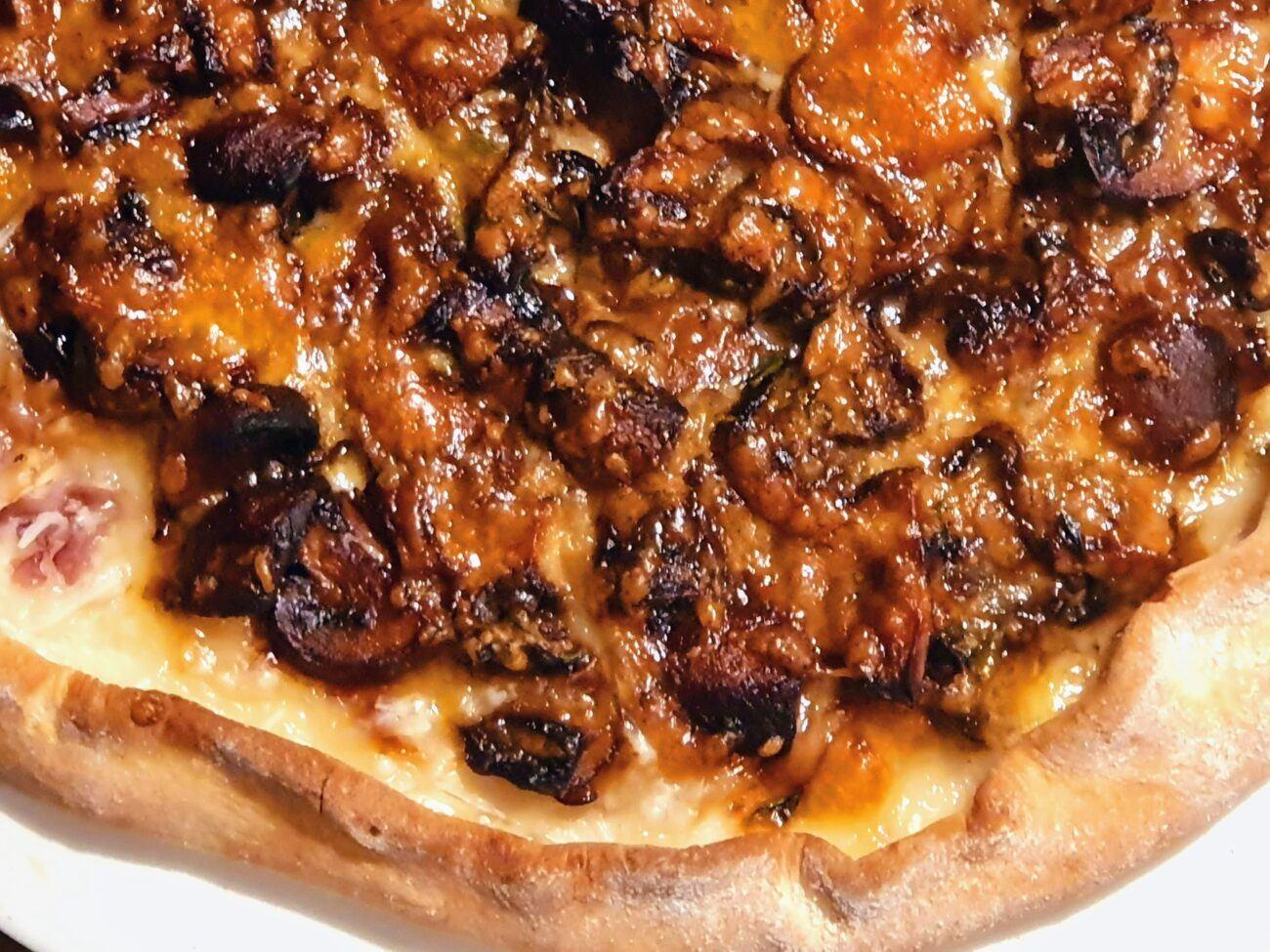 Savoury Mushroom Pizza
